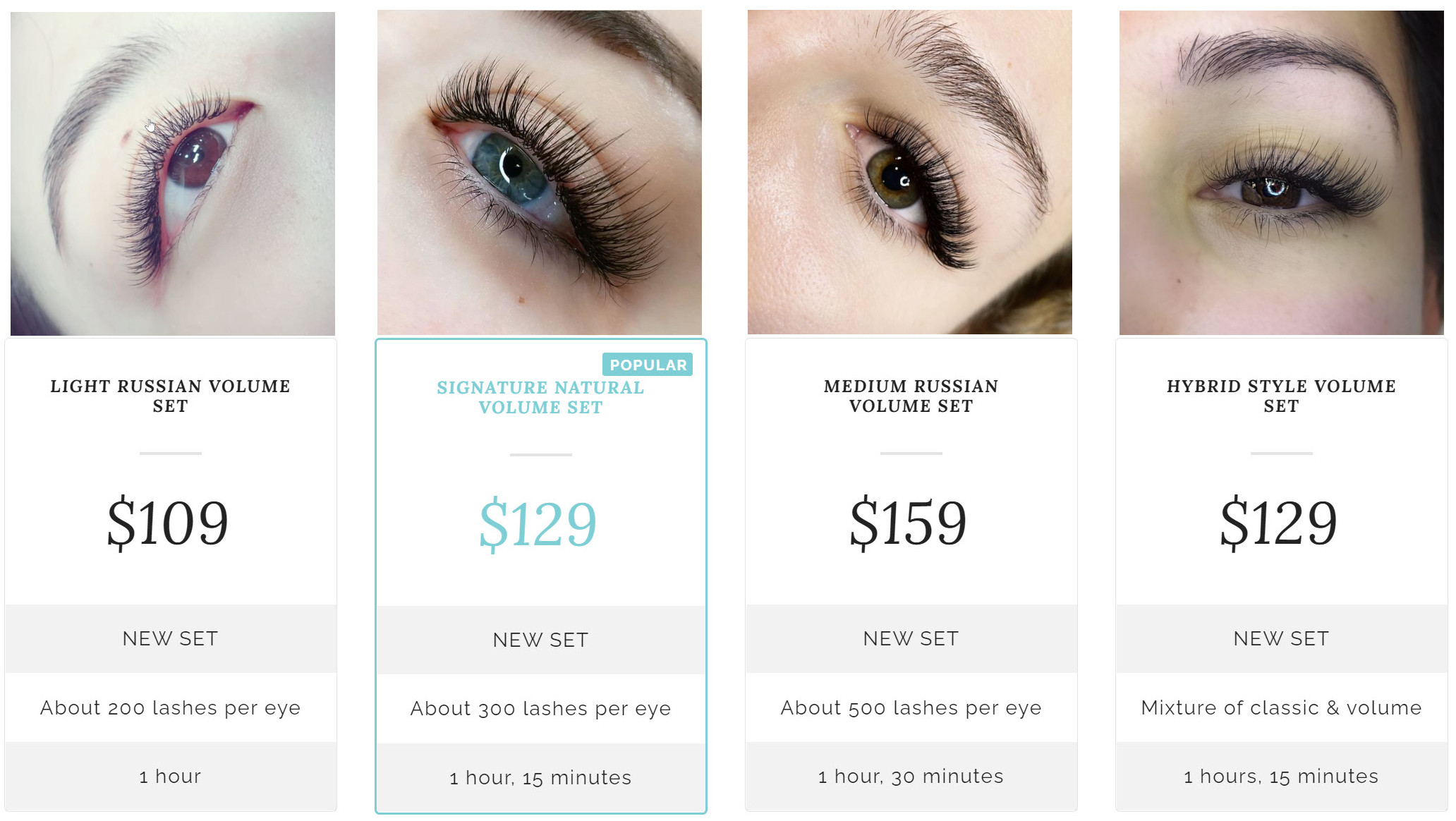 Russian Volume Eyelash Extensions Price Auckland CBD north west south east 2