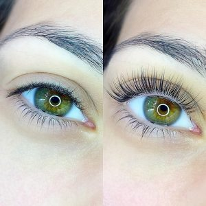 eye lash lift before after new market
