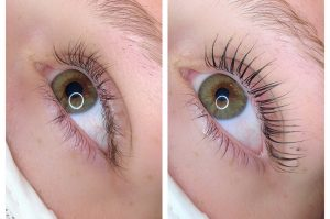 eyelash lift before after west auckland