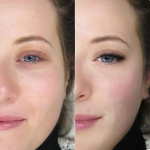 3d natural russian volume eyelash extensions before after