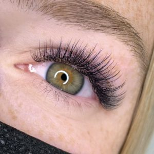 wispy eyelash extensions before after